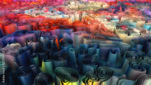 3d rendering. Abstract background and colors - 217299933