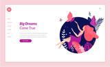 Web page design template for beauty, spa, wellness, natural products, cosmetics, body care, healthy life. Modern flat design vector illustration concept for website and mobile website development.  - 217306787