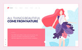 Web page design template for beauty, spa, wellness, natural products, cosmetics, body care, healthy life. Modern flat design vector illustration concept for website and mobile website development.  - 217306923