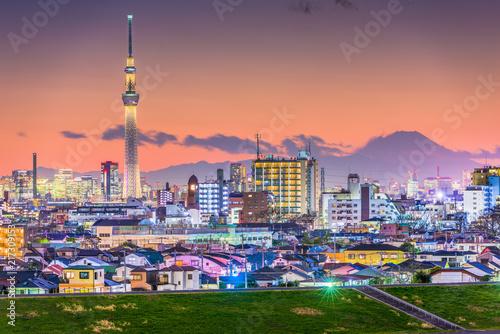Fotobehang Tokio Tokyo, Japan City Skyline