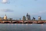 Blackfriars Bridge and City of London at Twilight