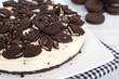 Quadro homemade no-bake cookies and cream cheesecake