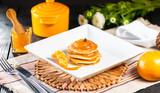 Pancake with Mexerica jam - vegetarian