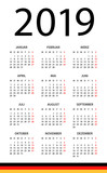 Calendar 2019 - illustration. German version - 217358144