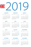 Calendar 2019 - illustration. English version - 217359176