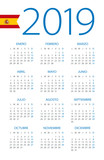 Calendar 2019 - illustration. Spanish version - 217359322