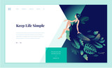 Web page design template for beauty, spa, wellness, natural products, cosmetics, body care, healthy life. Modern flat design vector illustration concept for website and mobile website development.  - 217360793