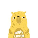 Cute cartoon bear boy in scandinavian style. Childish print for nursery, kids apparel,poster, postcard. Vector Illustration - 217361169