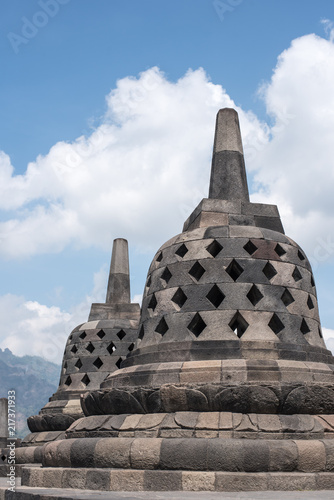 Fotobehang Boeddha Borobudur Temple, in Jogjakarta - Java - Indonesia