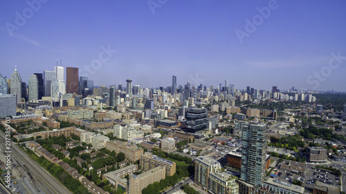 Aerial view of Toronto city from above, Toronto, Ontario, Canada