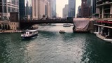 Calm day on Chicago River - 217390375