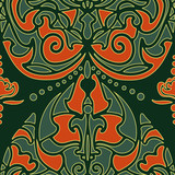 Indian ornament pattern.Can be used for designer wallpapers, for textile, printing and other