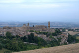 Italy,Marche,panorama,village,medieval,view,horizon,summer,europe,hill,old,panoramic,tourism