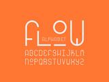 Flow font. Vector alphabet  - 217408951