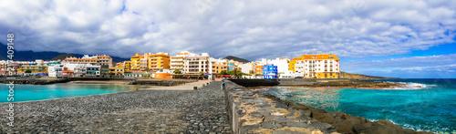 Fotobehang Freesurf Tenerife holidays - tranquil pictusresque town Puertito de Guimar, Canary islands