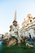 Piazza Navona, Rome, Italy, Europe. Rome ancient stadium. Navona Square, fountain of the four rivers, detail.