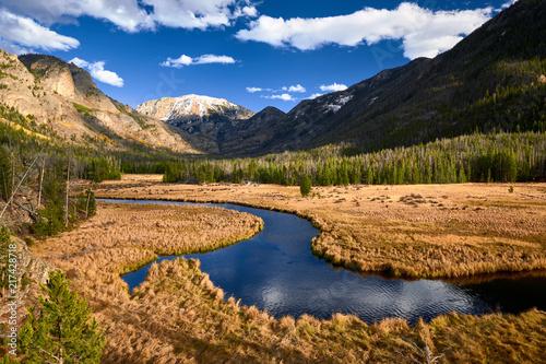 In de dag Bergrivier East Inlet Creek in Rocky Mountain National Park