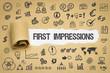 Leinwanddruck Bild - First Impressions