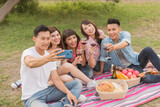 selfie with his friends - 217436107