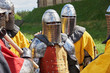 Details of the armor of participants in the competition for the Medieval Battle