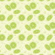 lime slice seamless patterb - 217449552
