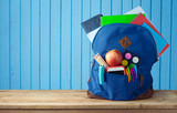 School bag backpack with notebooks - 217451953