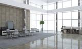 Elegant office interior. Mixed media - 217457193