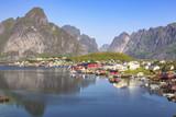 Reine fishing village in Lofoten Islands, Norway - 217459196