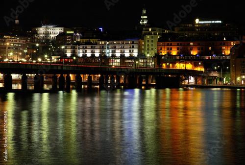 Foto Spatwand Stockholm Bridge in Stockholm. Sweden
