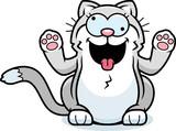 Cartoon Little Cat Crazy