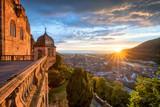 Sonnenuntergang über der Altstadt von Heidelberg