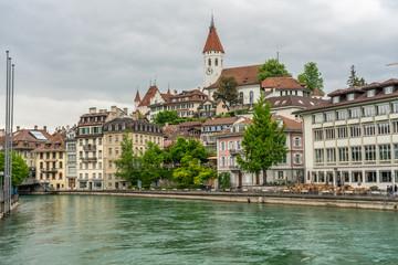 Switzerland, Thun city rooftops © AlehAlisevich