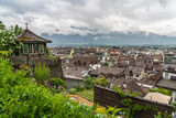 Switzerland, Thun city rooftops