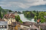Switzerland, Thun city rooftops