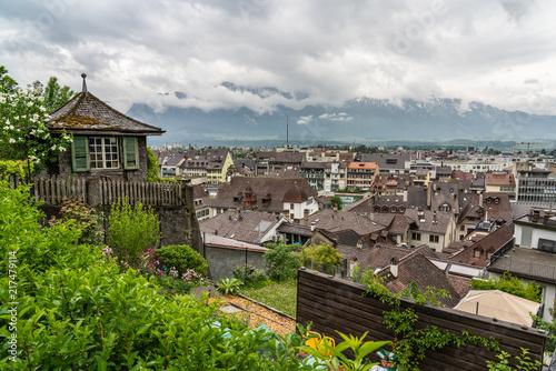 Sticker Switzerland, Thun city rooftops