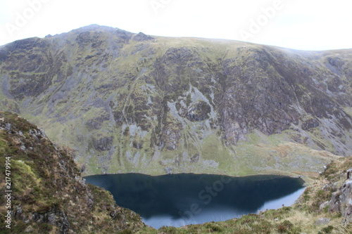 Fotobehang Donkergrijs Mountain Landscape Background