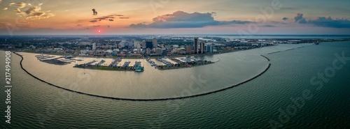 Corpus Christi, Texas Skyline Sunset Panoramic  - 217494908