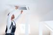 canvas print picture - Installation einer Klimaanlage