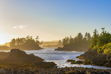 Shoreline at wild pacific trail in Ucluelet, Vancouver Island, BC © rgbspace