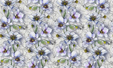 Seamless pattern, light flowers on a light background, wallpaper pattern or for fabric making, textile design