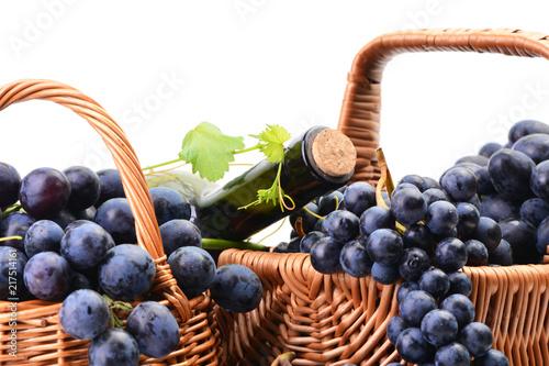 Leinwanddruck Bild Excellent grape wine, this year's harvest
