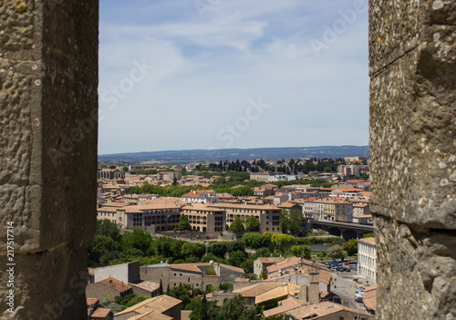Foto Murales City view from the fortress of Carcassonne
