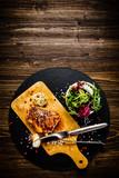 Grilled chicken fillet and vegetables - 217517975