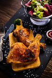 Roast chicken legs with and vegetables - 217519175