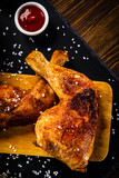 Roast chicken legs with and vegetables - 217519339