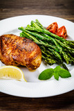 Grilled chicken breast and vegetables - 217519937