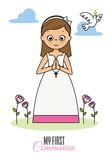 my first communion girl. Praying girl