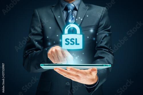 Leinwanddruck Bild SSL concept