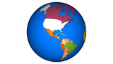 Planet Earth - Map USA Sphere World 002