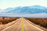 View from the Route 66, Mojave Desert, Southern California, United States. - 217536397